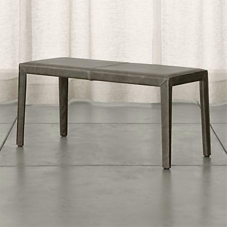 Surprising Folio Stone Grey Top Grain Leather 40 Bench Reviews Beutiful Home Inspiration Xortanetmahrainfo