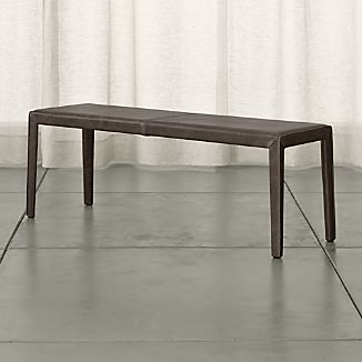 "Folio 52"" Top-Grain Leather Bench"