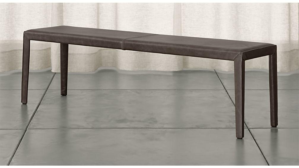 folio 64 top grain leather bench - Entryway Bench