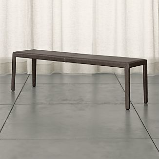 "Folio 64"" Top-Grain Leather Bench"