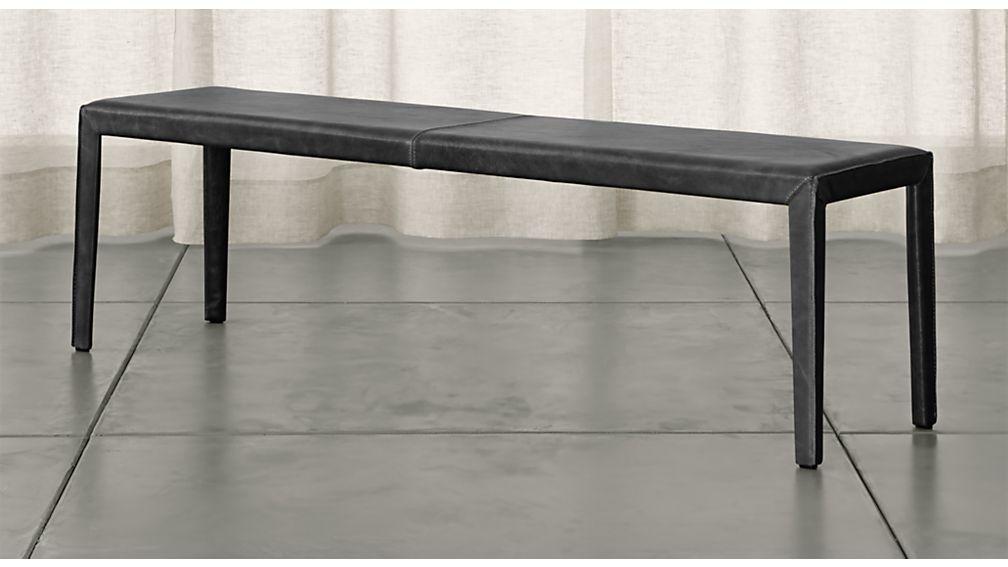 "Folio Viola Top-Grain Leather 64"" Bench - Image 1 of 3"