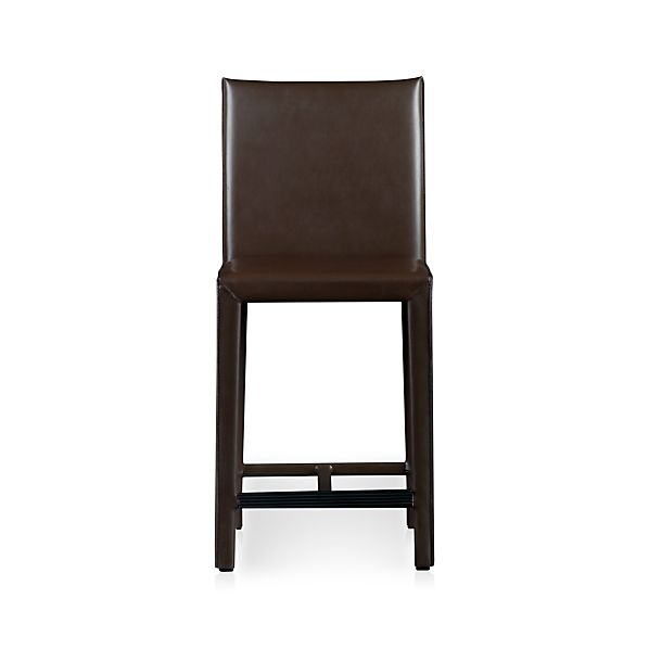 "Folio Chocolate Bonded Leather 24"" Counter Stool"