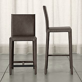 Bar Amp Counter Stools Leather Wood Swivel Backless