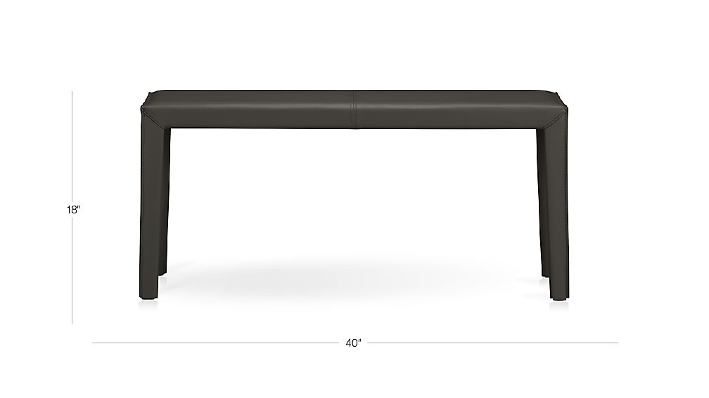 Folio 40 Quot Top Grain Leather Bench Crate And Barrel