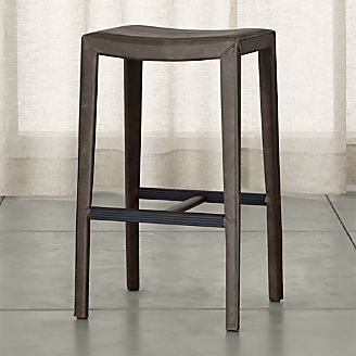 Folio Top-Grain Leather Backless Bar Stool & Bar Stools and Counter Stools | Crate and Barrel islam-shia.org