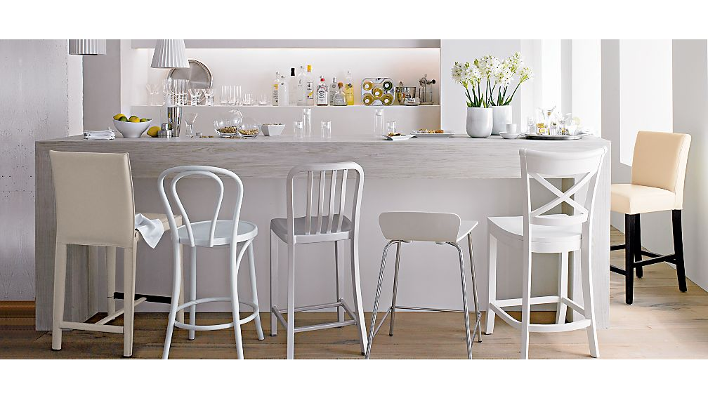 ... Vintner White Counter Stool ...  sc 1 st  Crate and Barrel : white kitchen counter stools - islam-shia.org