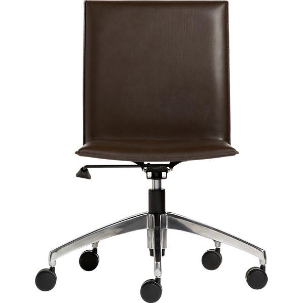 Folio Chocolate Leather Office Chair