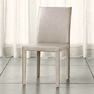 Folio Sand Top Grain Leather Dining Chair
