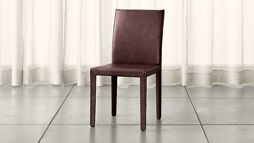 Folio Merlot Top-Grain Leather Dining Chair - Image 1 of 4