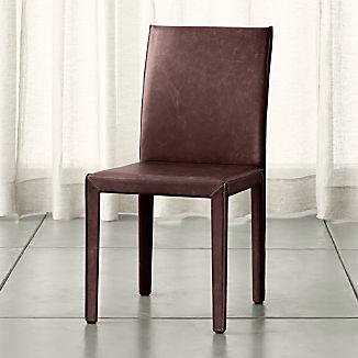 Folio Merlot Top-Grain Leather Dining Chair