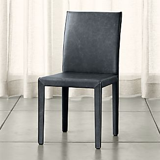 Folio Oceana Blue Top-Grain Leather Dining Chair