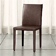Cool Leather Parsons Chairs Crate And Barrel Creativecarmelina Interior Chair Design Creativecarmelinacom