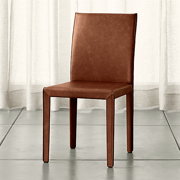 Folio Sienna TopGrain Leather Dining Chair Crate And Barrel - Crate and barrel leather dining chair