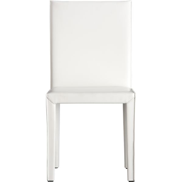 Folio White Bonded Leather Side Chair