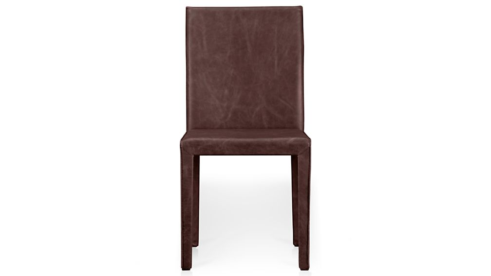 Folio Merlot Red Top-Grain Leather Dining Chair