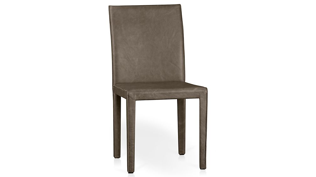 Folio Stone Grey Top-Grain Leather Dining Chair