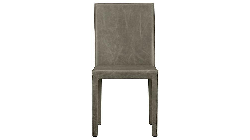 Folio Stone Grey Top-Grain Leather Dining Chair