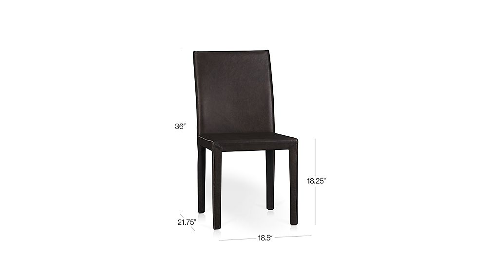 Folio Saddle Top Grain Leather Dining Chair Crate and Barrel : FolioSideChrSaddle3QF13Dim from www.crateandbarrel.com size 1008 x 567 jpeg 15kB