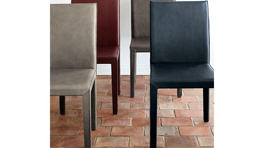 Folio Oceana Blue Top-Grain Leather Dining Chair
