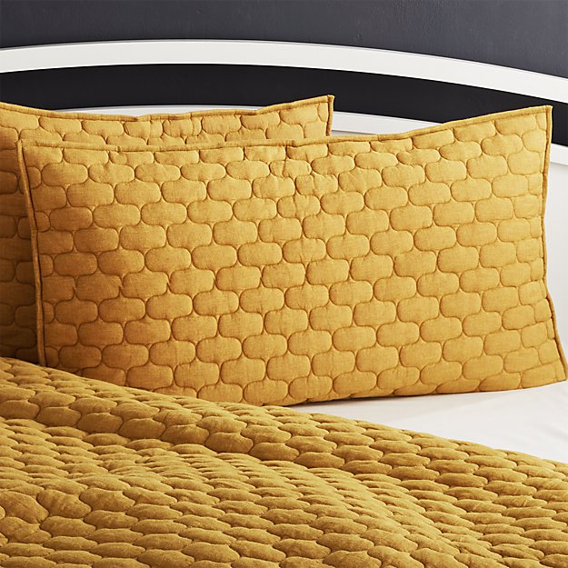 Fontaine Mustard Yellow Cotton King Sham Reviews Crate