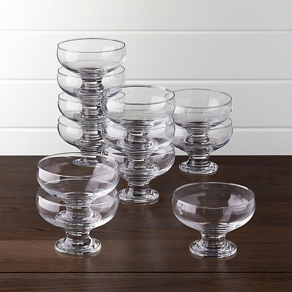 Footed 10 oz. Dessert Dishes Set of 12