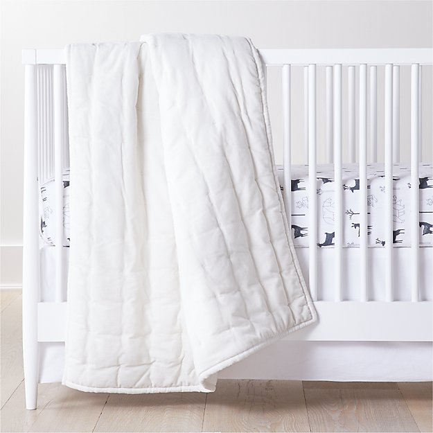 Organic Forest Animal Flannel Crib Bedding Crate And Barrel
