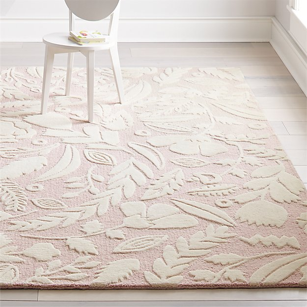 Pink Forest Floor Kids Rug Crate And Barrel