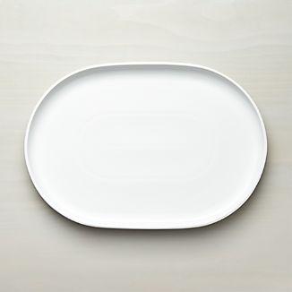 Form White Oval Serving Platter