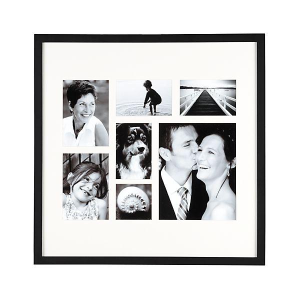 Classic Black Multi-Pic 4x4/4x6/5x7/8x10 Frame