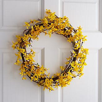 Silk Decor Home Accents Forsythia Wreath