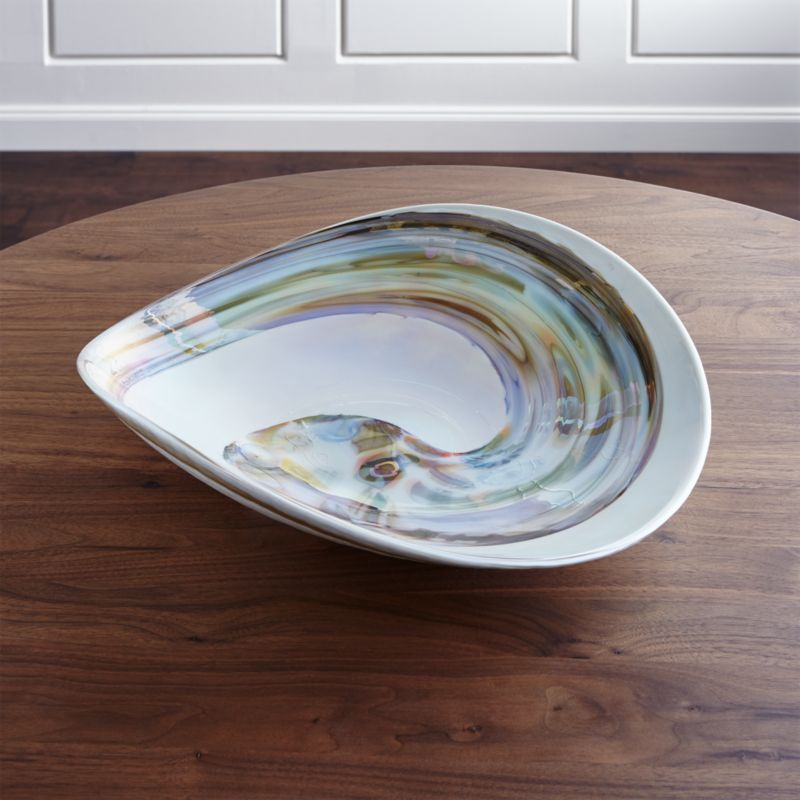 Fossili white murano glass bowl reviews crate and barrel