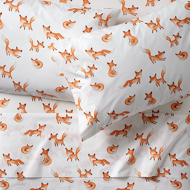 Full Fox Sheets Reviews Crate And Barrel