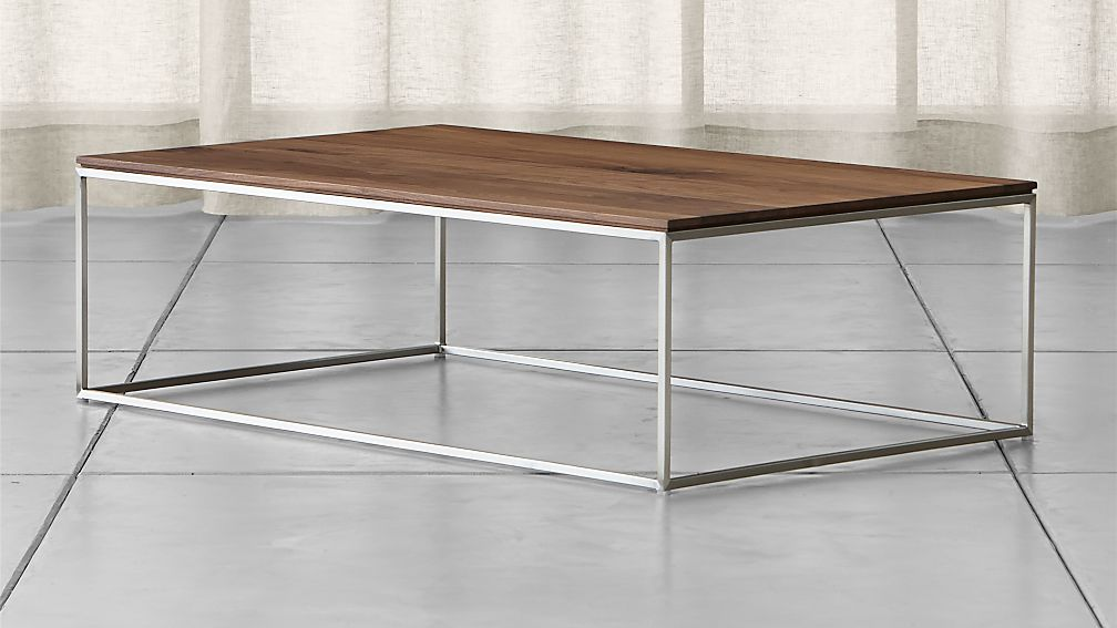 frame medium coffee table reviews crate and barrel - Metal Frame Coffee Table