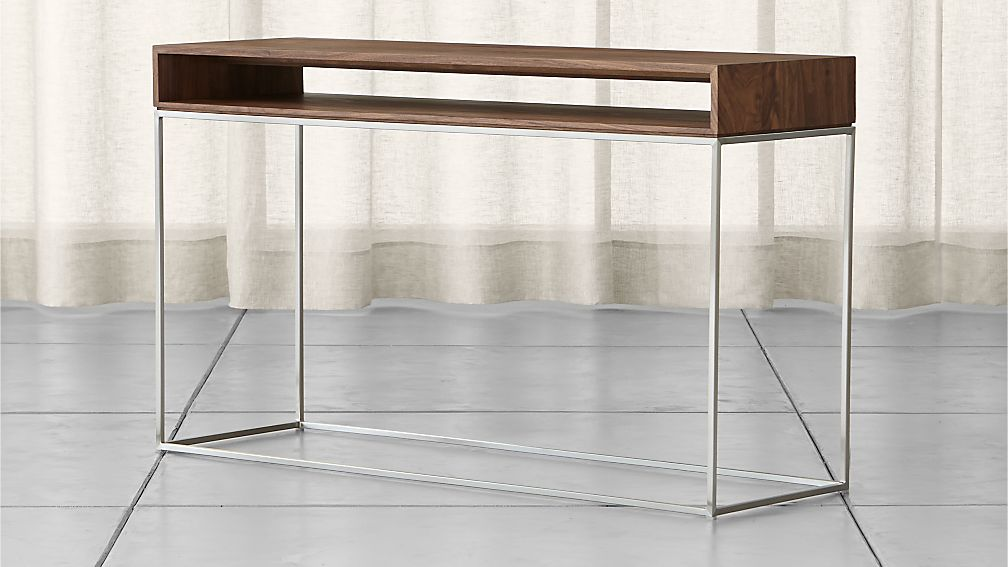 Frame Console Table + Reviews | Crate and Barrel