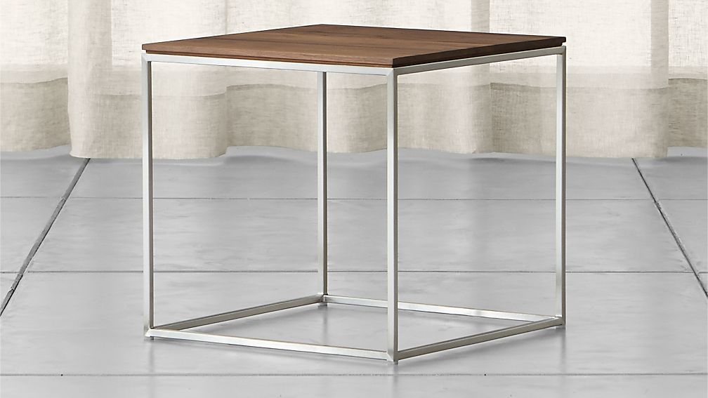 Frame Square Side Table + Reviews | Crate and Barrel