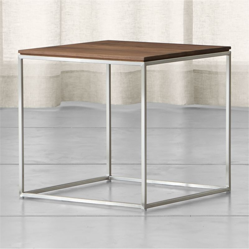 Frame Square Side Table Reviews Crate and Barrel