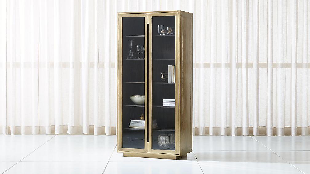 Freda Glass Door Cabinet Crate And Barrel