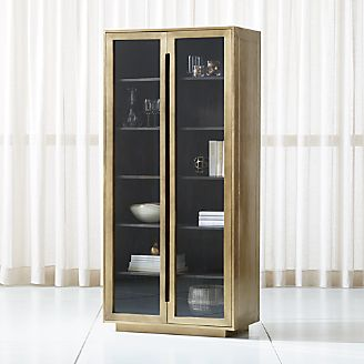 Freda Glass Door Cabinet & Storage Cabinets and Display Cabinets | Crate and Barrel