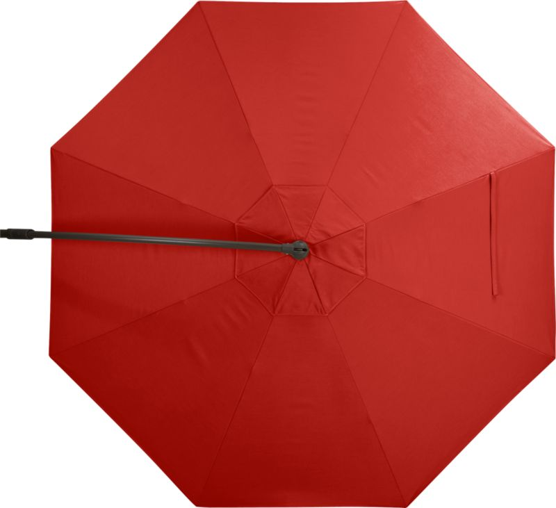 A smart, vibrant caliente umbrella cover of Sunbrella acrylic fabric blocks out 98% of the sun's UV rays. Fits our 10' Round Bronze Free-Arm Umbrella Frame with Base (sold separately).<br /><ul><li>Fade- and mildew-resistant Sunbrella acrylic</li><li>Made in USA</li></ul><NEWTAG/>