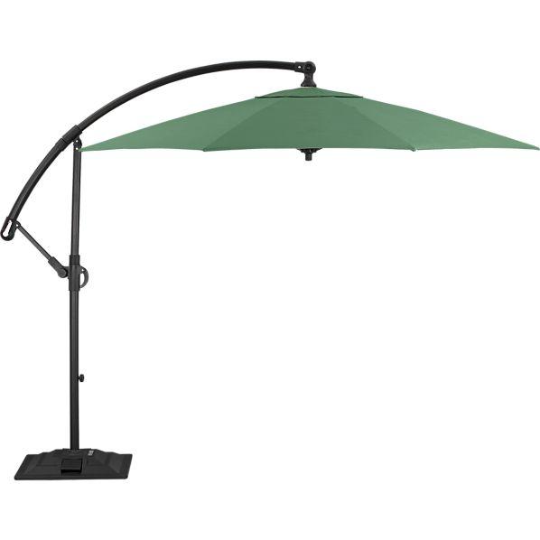 10' Round Sunbrella ® Bottle Green Free-Arm Umbrella with Base