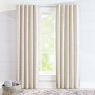 Superb Freehand Beige Blackout Curtains