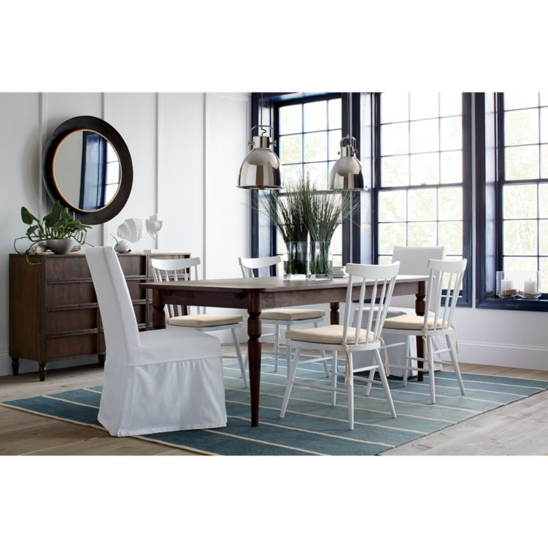Slip White Slipcovered Dining Chair in Dining Chairs Reviews