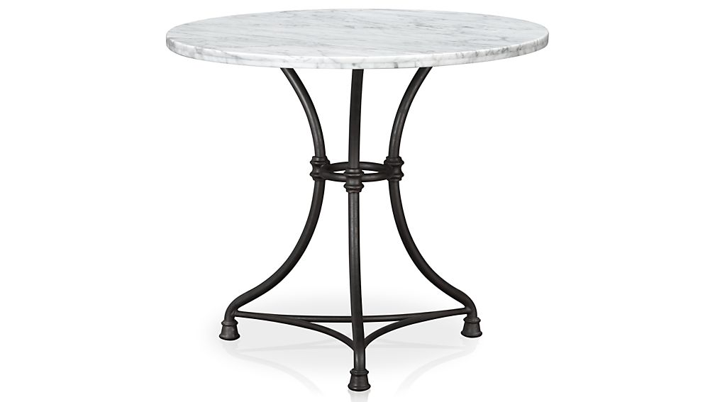 french kitchen round bistro table  crate and barrel, Kitchen design
