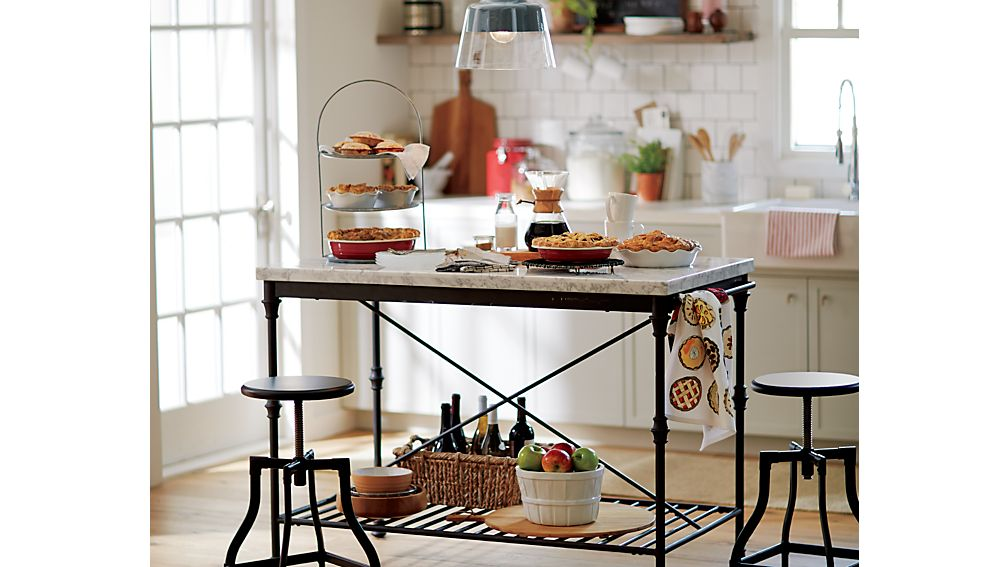 Crate And Barrel French Kitchen Island For Sale