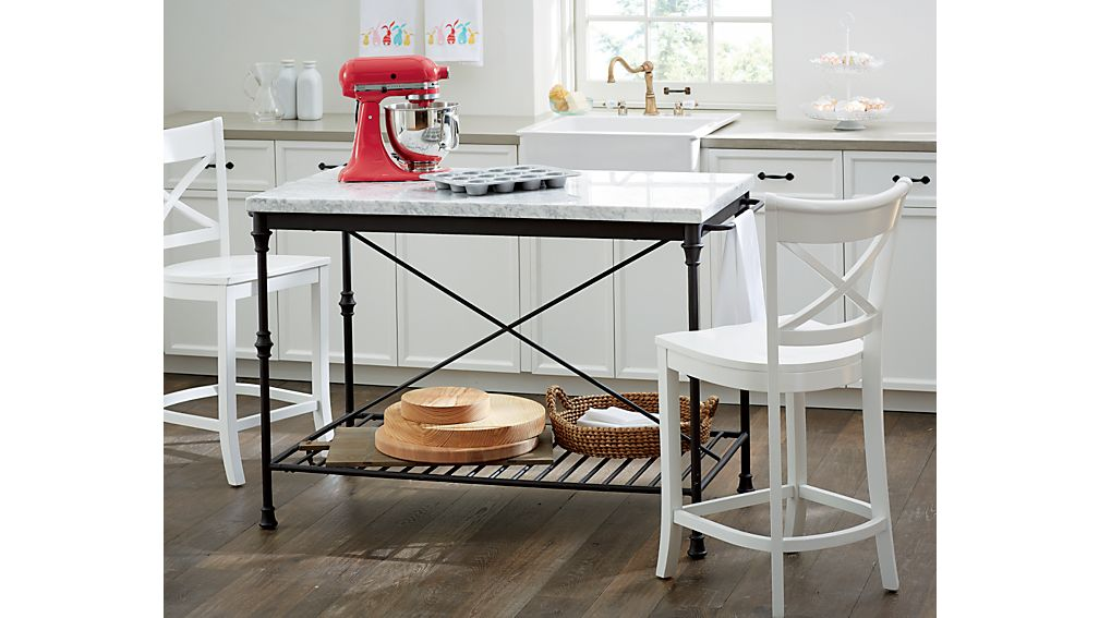 Marble Top Kitchen Island | French Kitchen Island Crate And Barrel