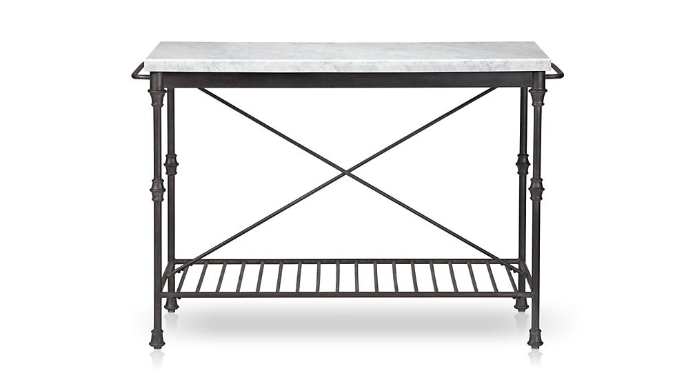 Marble Top Kitchen Island Table french kitchen island | crate and barrel