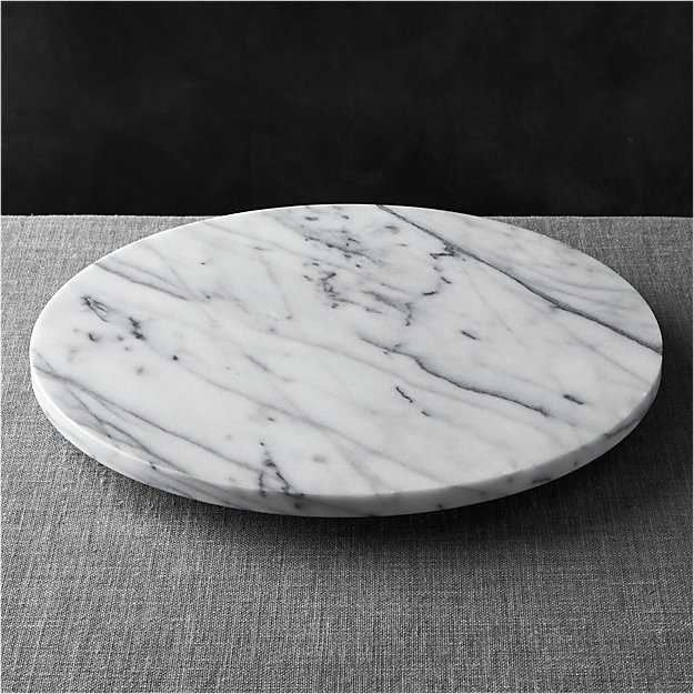 French Kitchen Marble Lazy Susan Crate And Barrel