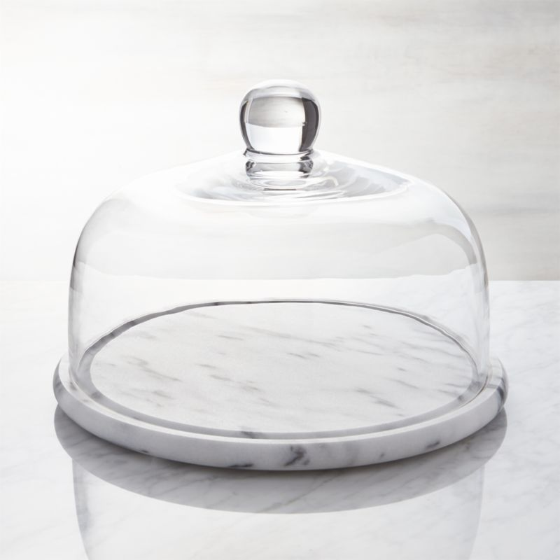 Marble And Glass Cheese Dome Crate Barrel