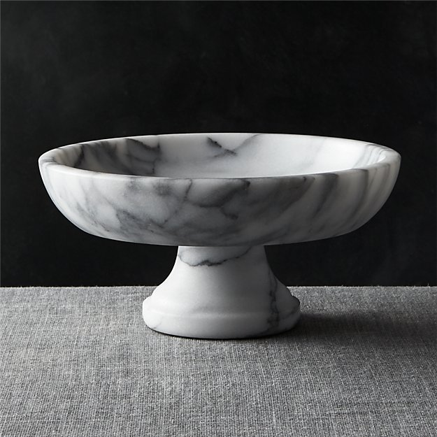 Excellent French Kitchen Marble Fruit Bowl + Reviews | Crate and Barrel IJ32