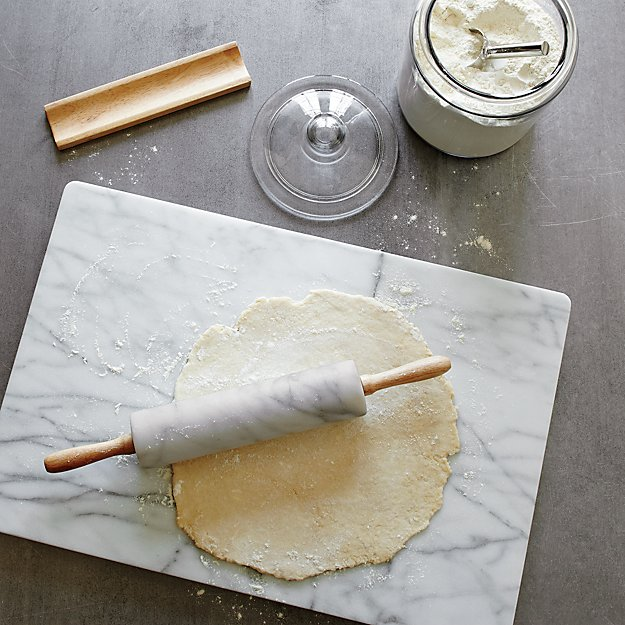 French Kitchen Marble Rolling Pin With Stand In Baking